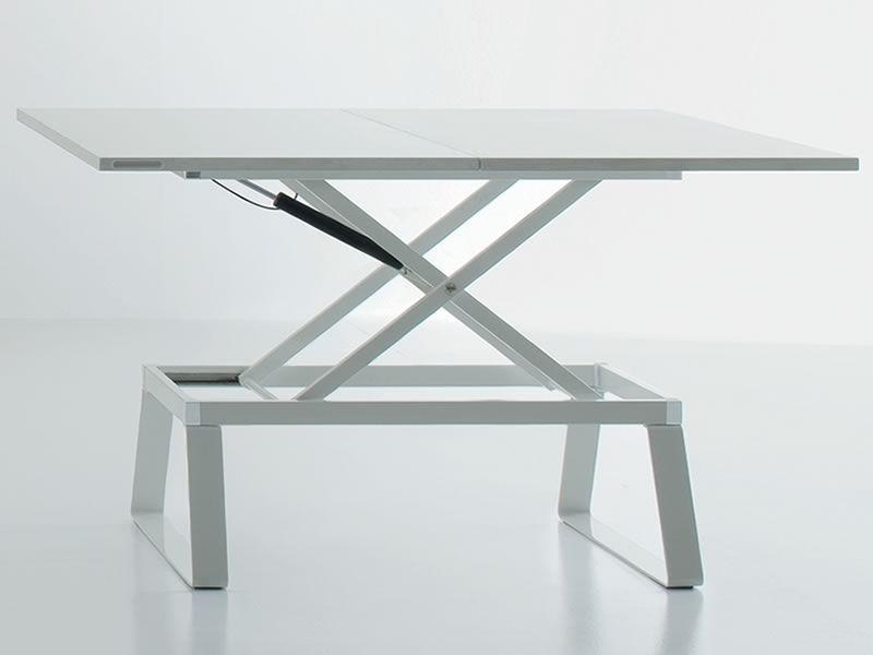 Orione: Mesita transformable en mesa de comedor, regulable en ...