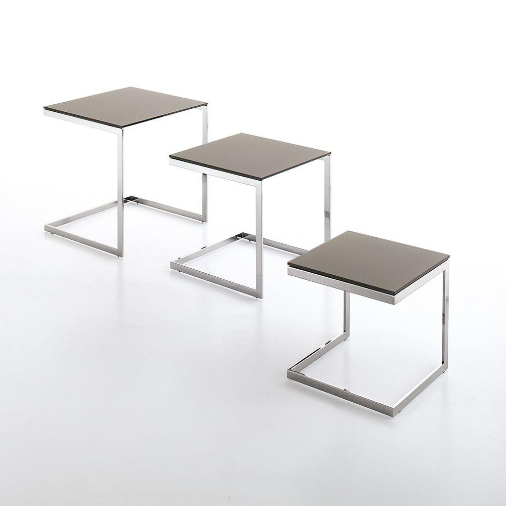 Tavolini Divano Cristallo : Hip hop side servetto o tavolino da divano bontempi casa