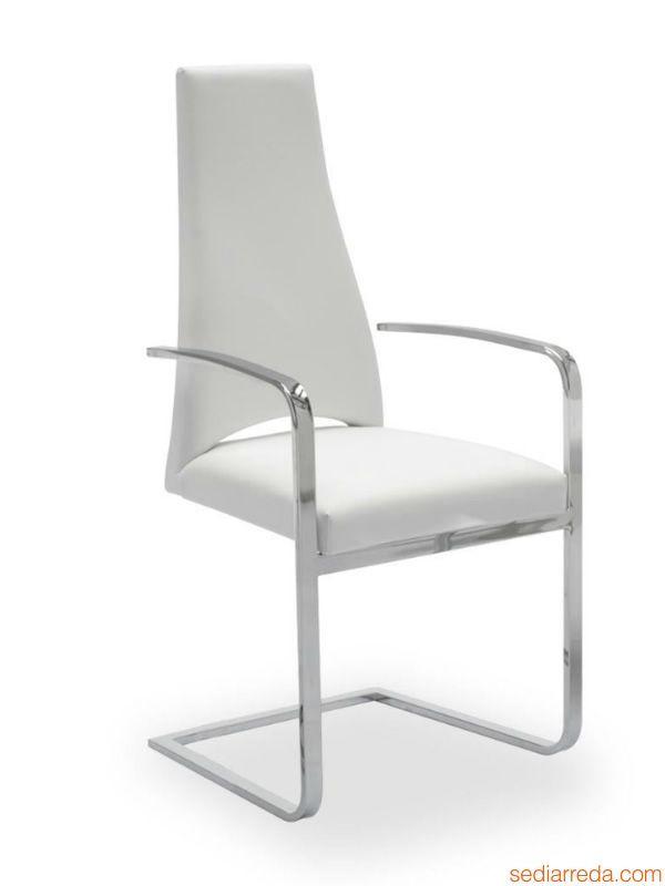 cs1381 juliet stuhl calligaris aus metall mit bezug aus stoff leder oder kunstleder mit. Black Bedroom Furniture Sets. Home Design Ideas