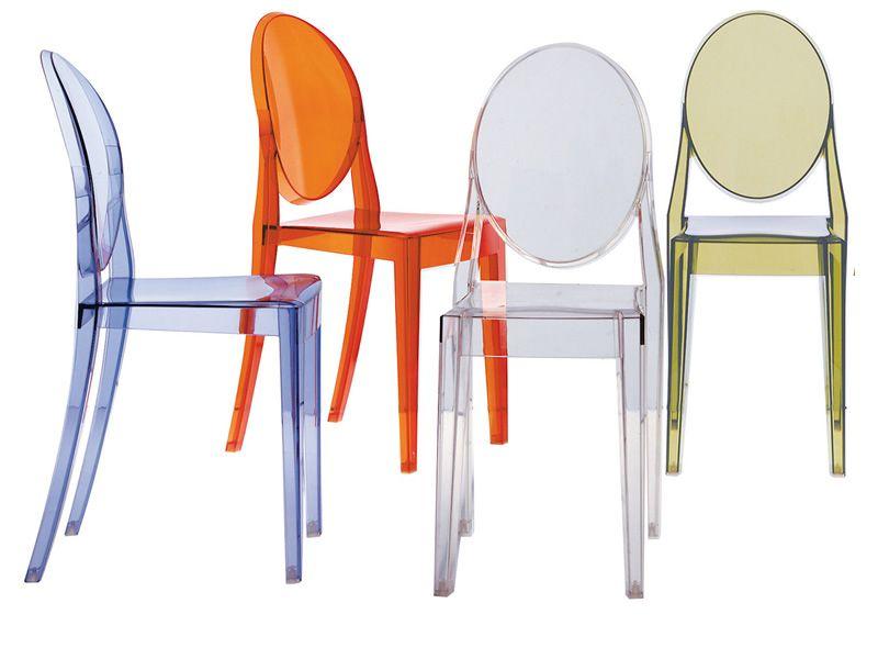 Victoria ghost sedia kartell di design in policarbonato trasparente o colo - Fauteuil louis ghost kartell pas cher ...
