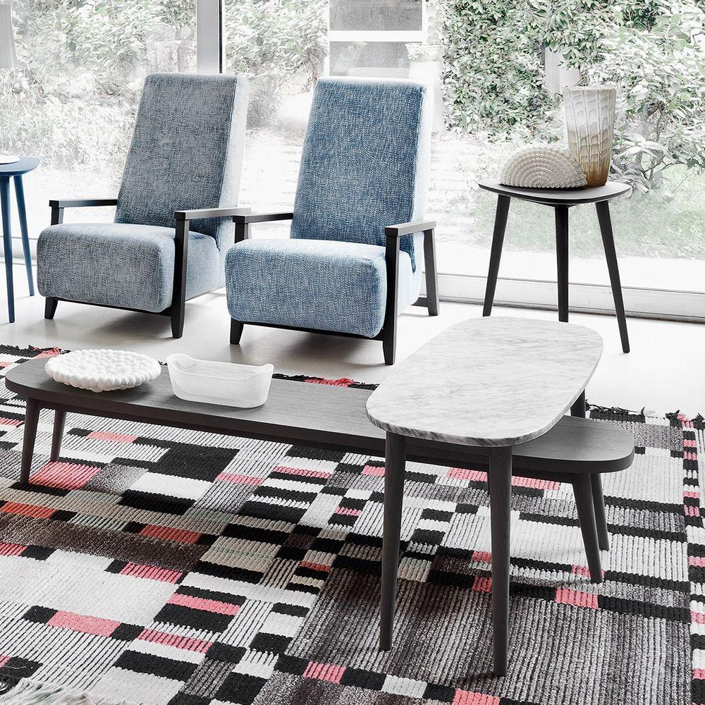 Brick 247 248 tavolino gervasoni in legno piano in for Tavolini in legno
