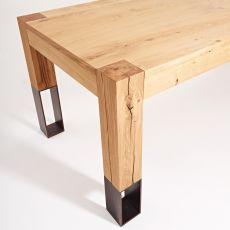 Acqua Alta - Colico Design wooden table, with legs in wood and metal, extendible and rectangular, several sizes available