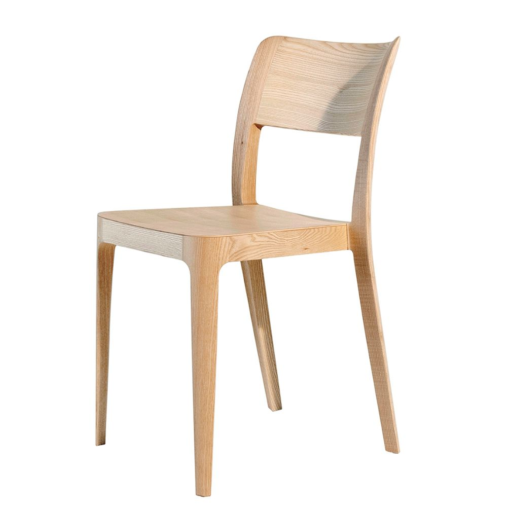 Nen lg sedia impilabile midj in legno di frassino for Sedie design legno naturale