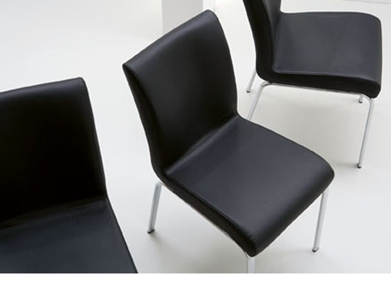 stone f r bars und restaurants stuhl aus metall mit bezug aus leder kunstleder oder stoff. Black Bedroom Furniture Sets. Home Design Ideas