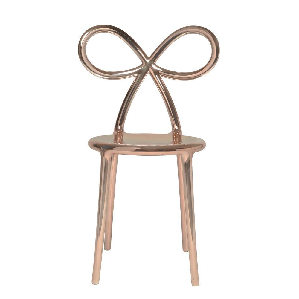 Ribbon Chair Metal   Design Chair In Polypropylen With Pink Gold Metallic  Finisch, ...