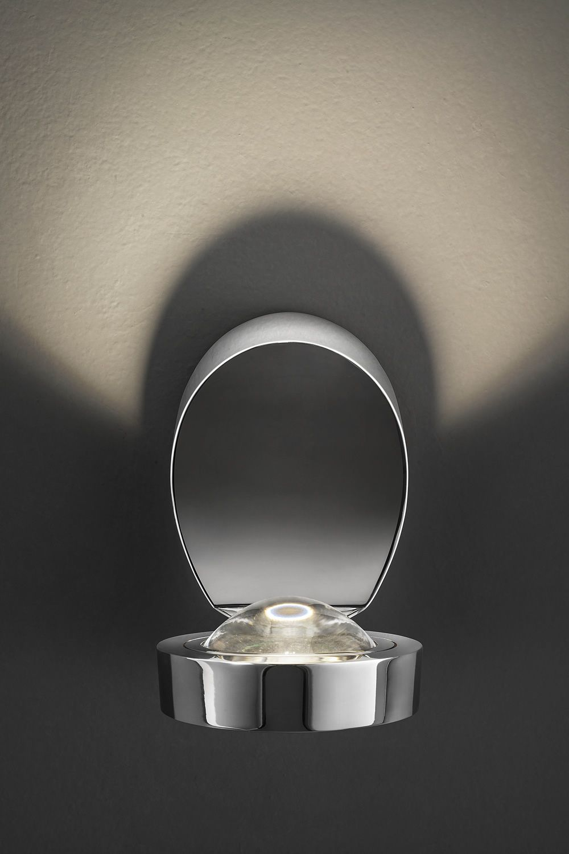 Pin up lampada a parete di design orientabile in metallo con luce led sediarreda - Lampada parete design ...