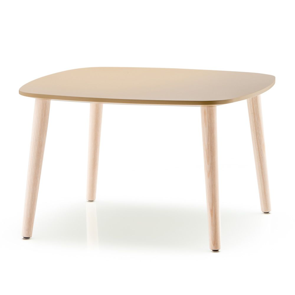 Malm t table basse design et plateau en bois ronde ou for Table basse en bois