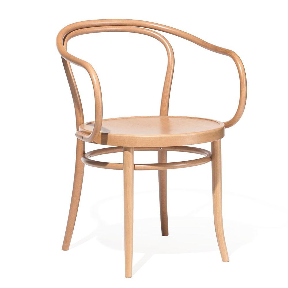 Chair 30 Sedia Ton In Legno Con Braccioli Seduta In