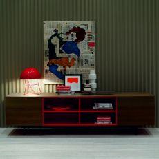 Amsterdam 15.12 - Madia moderna Bontempi Casa, in legno, con ante o cassetti, disponibile in diverse finiture e colori