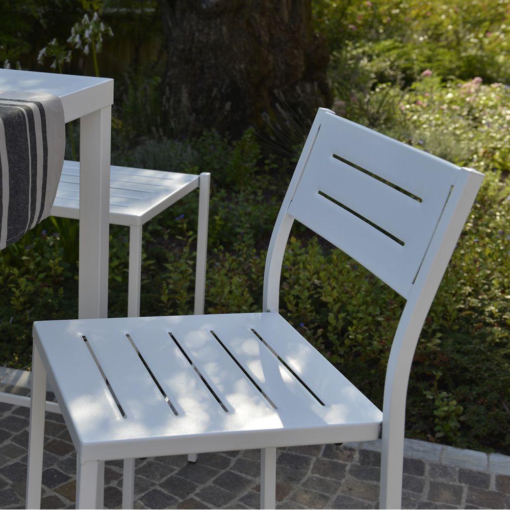 rig72 chaise en m tal empilable en diff rentes couleurs pour jardin sediarreda. Black Bedroom Furniture Sets. Home Design Ideas