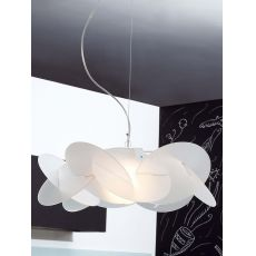 Bea - Suspension lamp with metacrylate lampshade, different colours