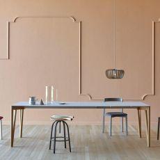 Decapo LF - Tavolo Miniforms in legno, piano in Fenix NTM®, allungabile, diverse dimensioni disponibili