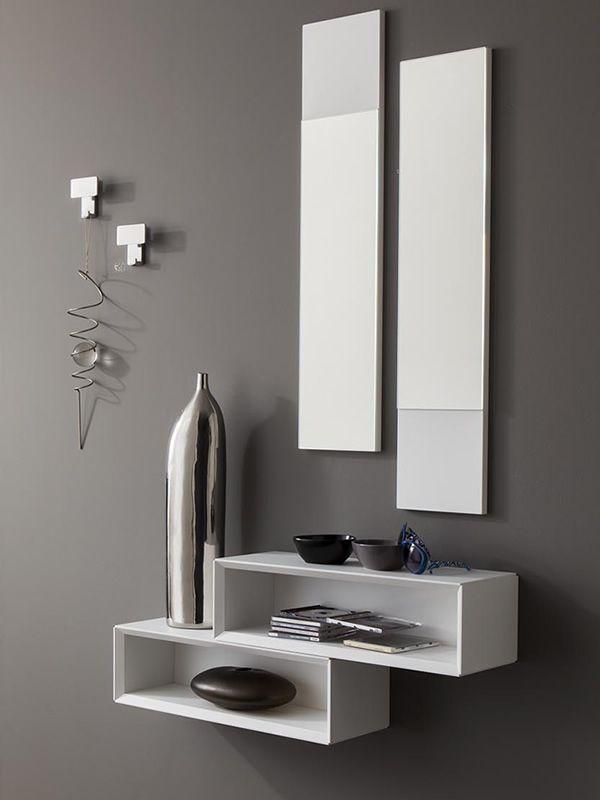 pa mueble de entrada de blanco opaco percheros cromados modelo cdigo
