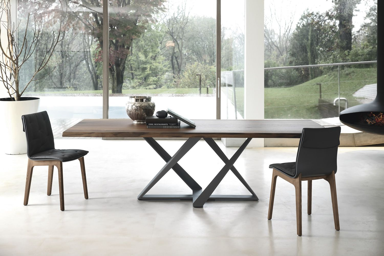 Millennium tavolo di design di bontempi casa 200 x 106 cm fisso con basamento in metallo e - Dimensioni tavolo biliardo casa ...