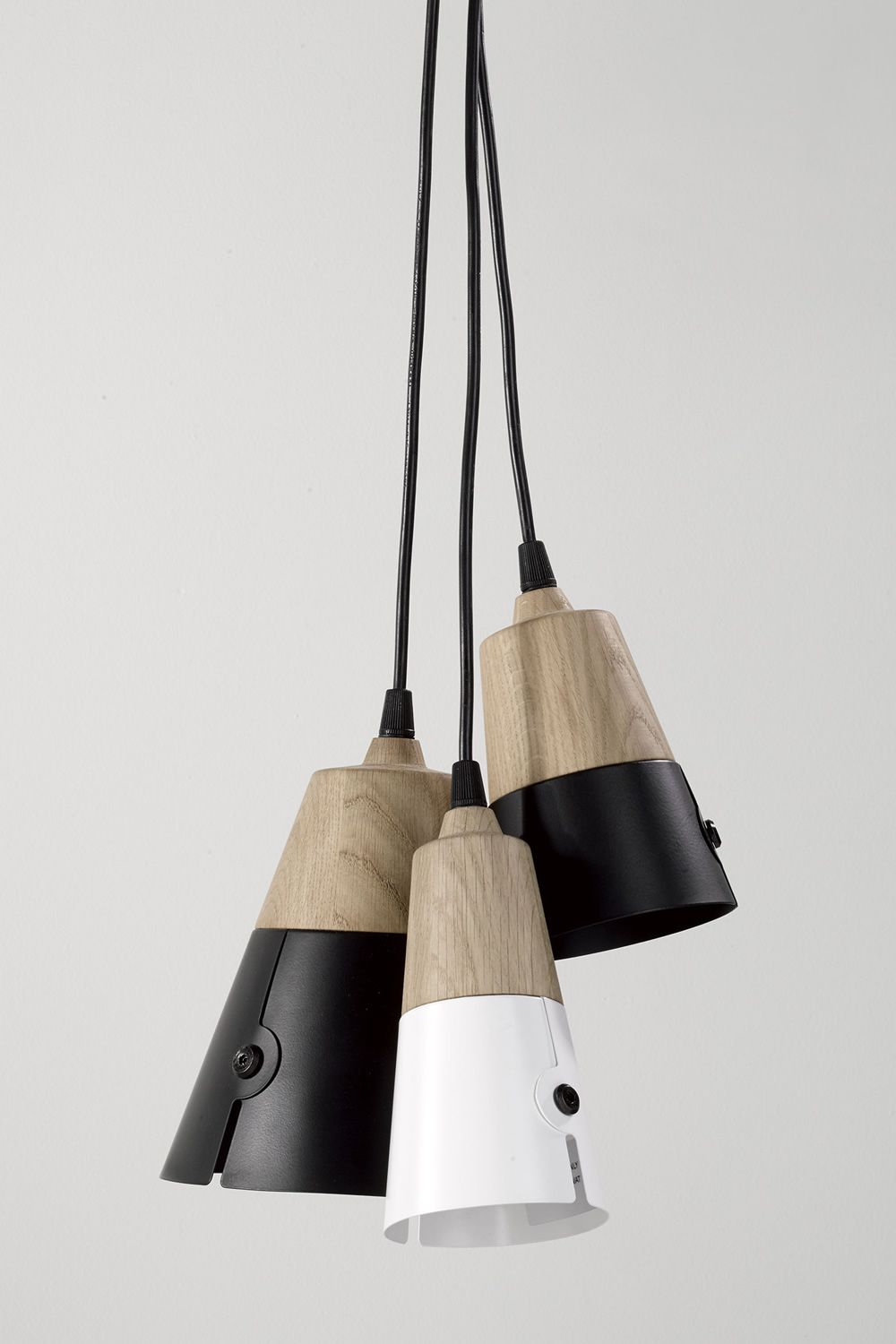 cone universo positivo pendant lamp made of wood and. Black Bedroom Furniture Sets. Home Design Ideas