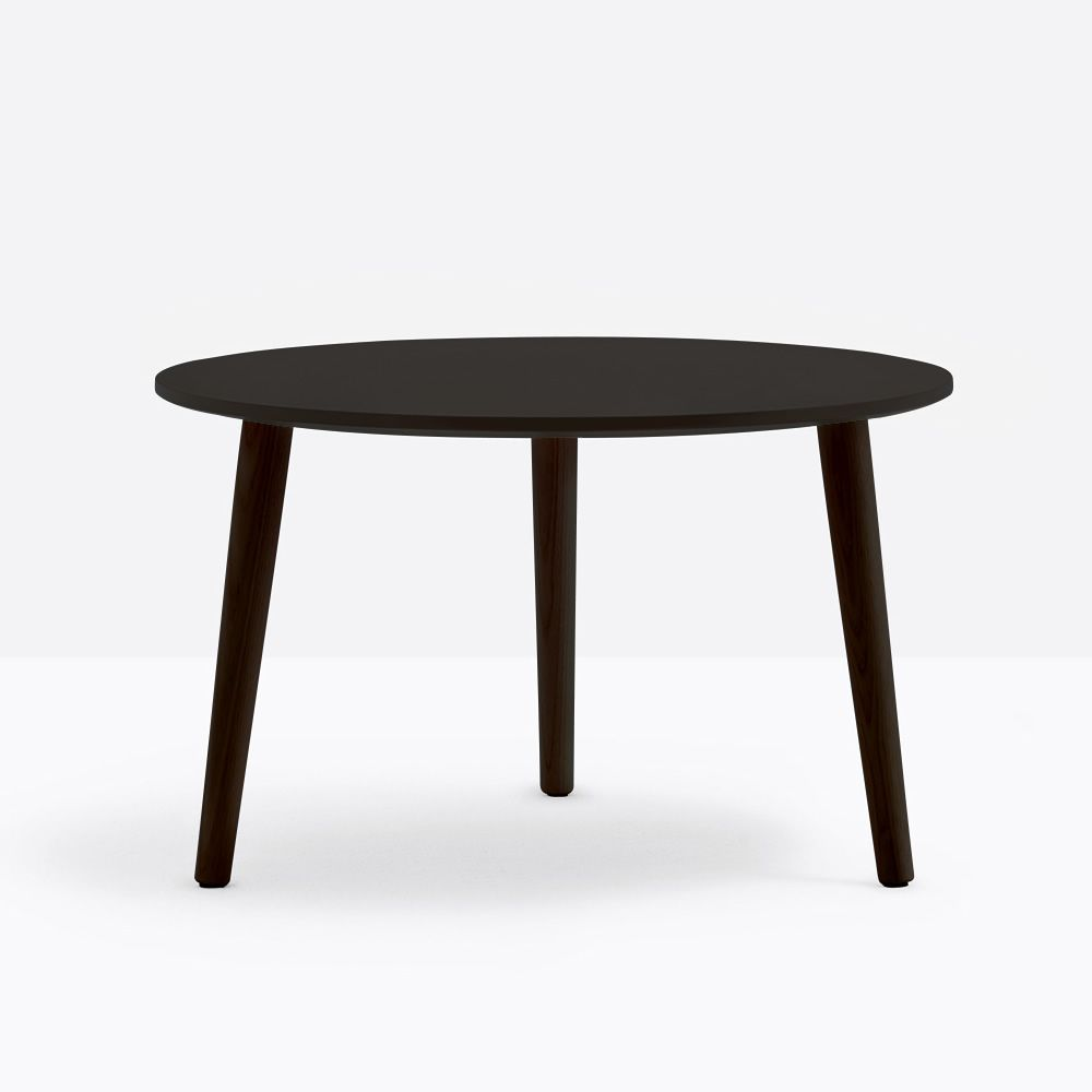 Round Coffee Table Dimensions: Malmö T: Pedrali Coffee Table In Wood, With Round Or