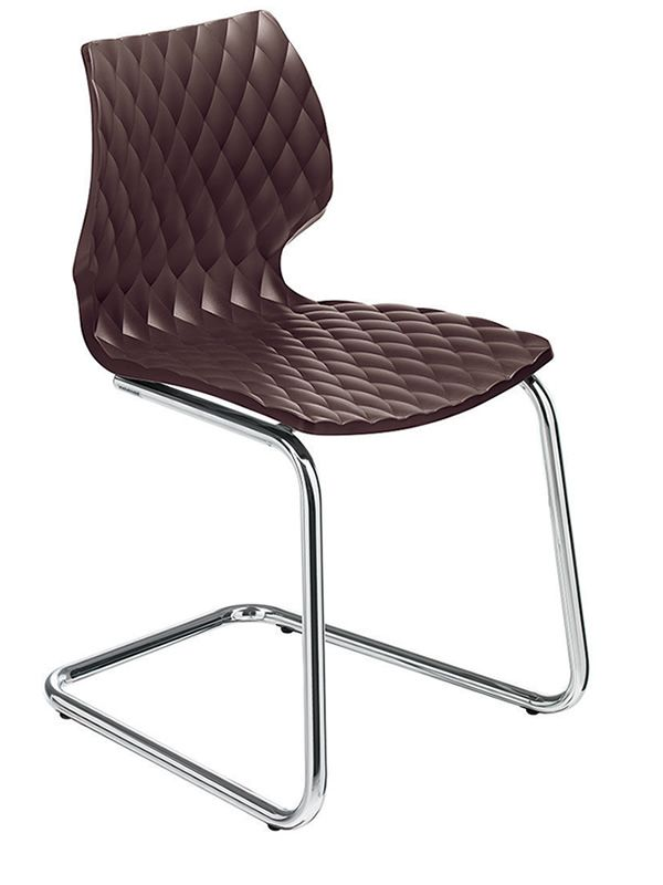 Mb16 sedia cantilever in metallo e polipropilene anche per giardino sediarreda - Sedia cantilever ...