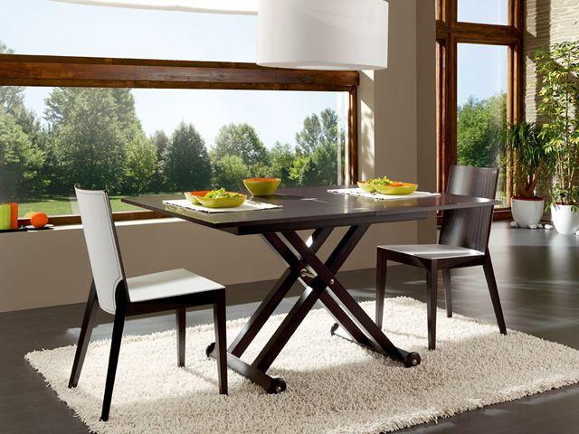 Roma tavolo idealsedia in legno 70x104 cm allungabile e regolabile in altezza sediarreda - Tavolo regolabile in altezza ...