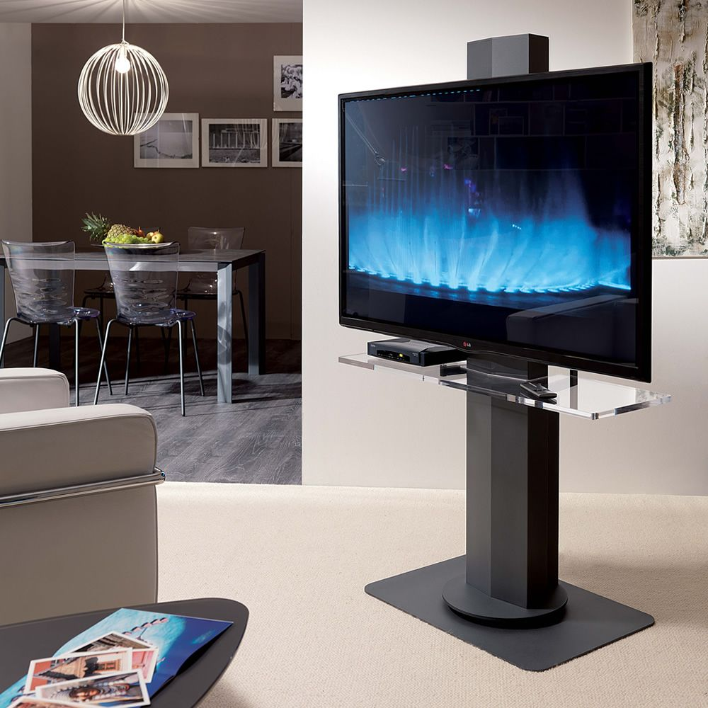 Porta Tv Al Plasma.Uno Plasma Lcd Tv Rack With Electrically Adjustable Height Also