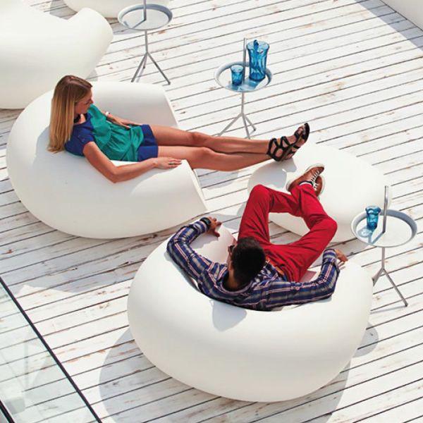 chubby: lounge-sessel slide aus polyethylen, verschiedene, Hause deko