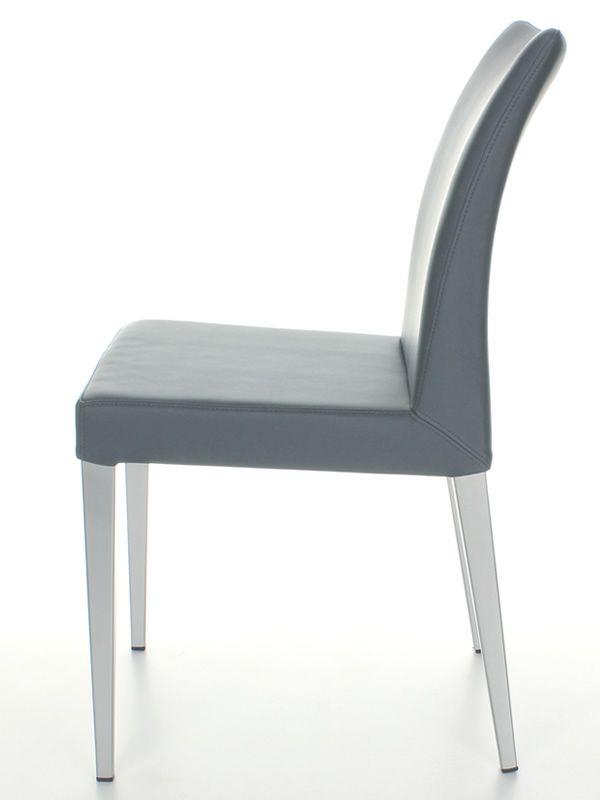 matrix chaise moderne midj en m tal assise en simili cuir gris sediarreda. Black Bedroom Furniture Sets. Home Design Ideas