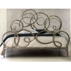 Azzurra - Double bed in wrought-iron, several colours available