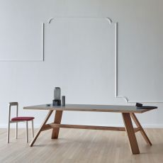 Artigiano - Miniforms rectangular table in wood, available in different dimensions et finishes