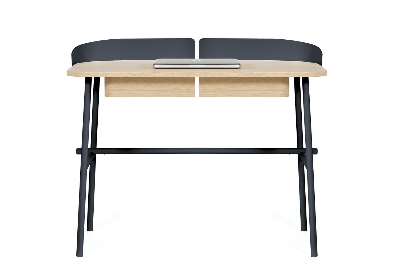 victor designer schreibtisch aus metall und holz mit schubladen sediarreda. Black Bedroom Furniture Sets. Home Design Ideas