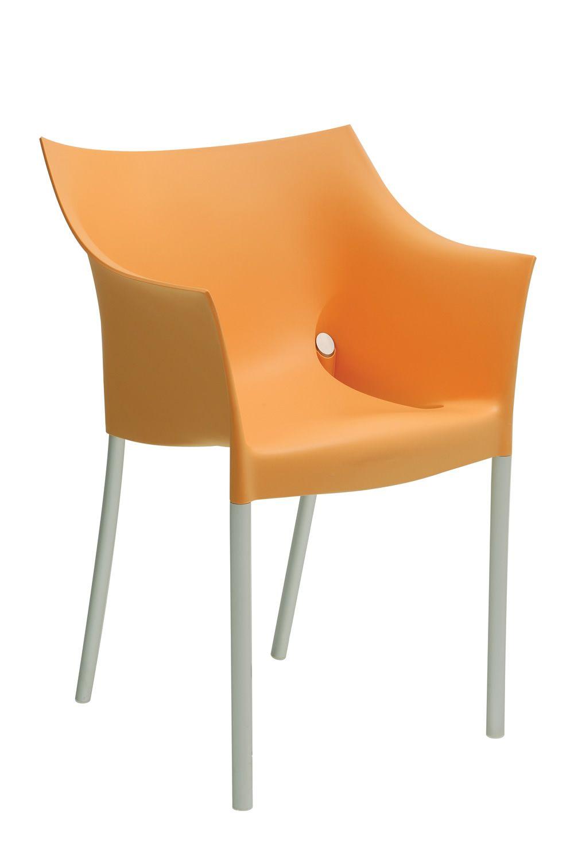 Dr no sedia kartell di design impilabile in alluminio e polipropilene disponibile in - Sedia di design ...