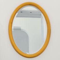 Azimut 4963 - Miroir ovale Tonin Casa avec cadre classique en bois, en différentes couleurs et dimensions