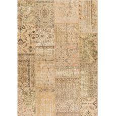 Antalya Sand - Sandfarbener Teppich aus reiner Schurwolle, handgeknüpft
