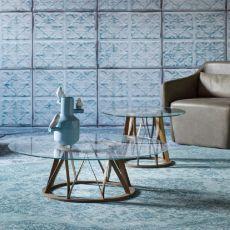 Acco - Tavolino da salotto rotondo Miniforms, in legno e metallo