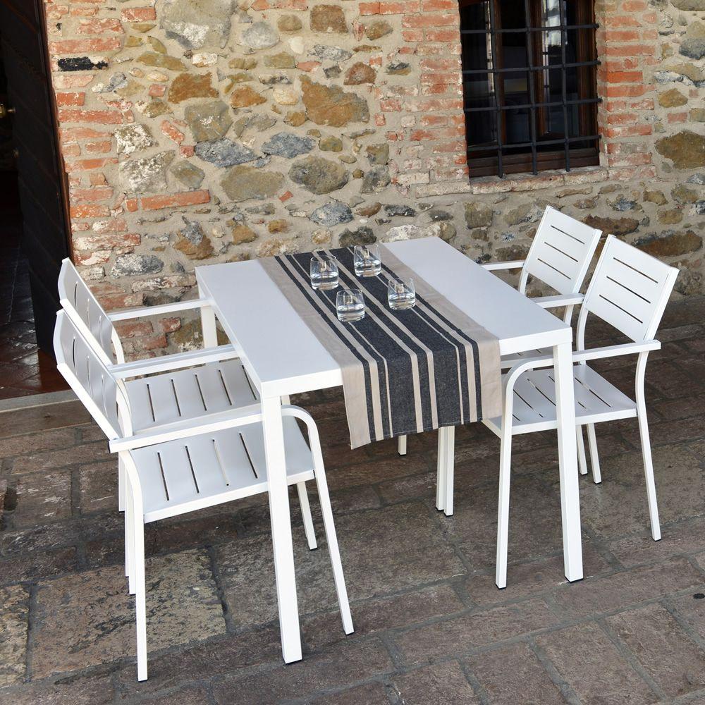 Rig72tp tavolo in metallo impilabile diverse misure for Tavolo giardino metallo