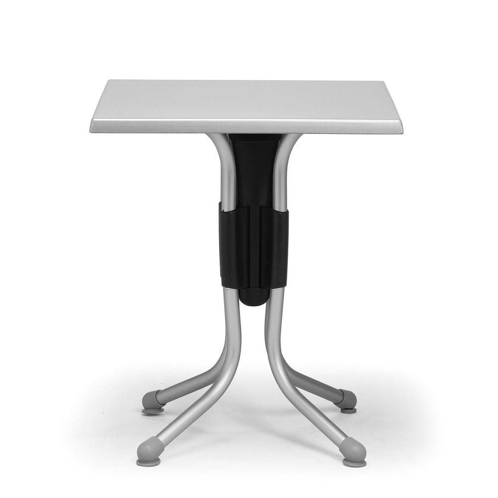 Polo pour bars et restaurants table en m tal et plateau for Table exterieur aluminium anodise