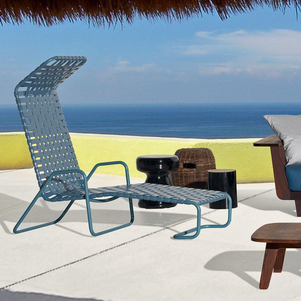 inout 881 f chaise longue gervasoni en aluminium avec assise en pvc pour le jardin sediarreda. Black Bedroom Furniture Sets. Home Design Ideas