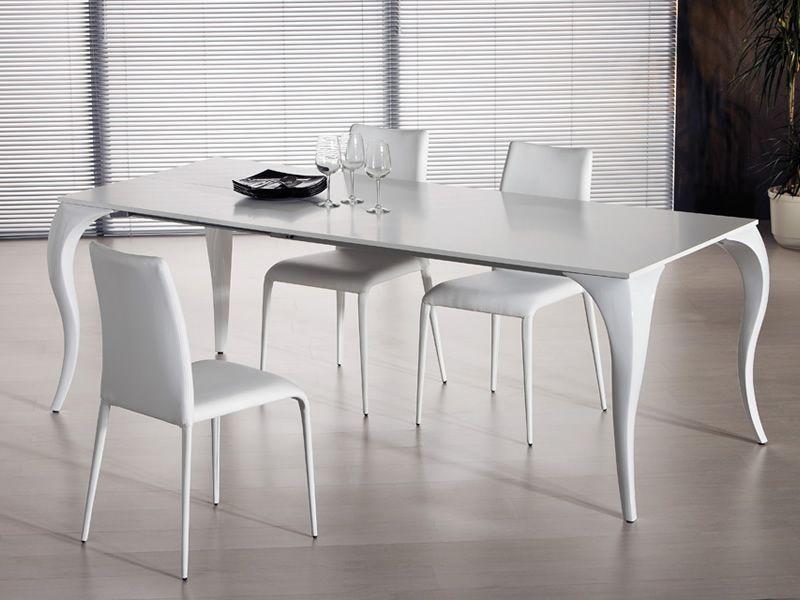 Bond a tavolo allungabile midj in policarbonato con for Tavolo allungabile vetro bianco
