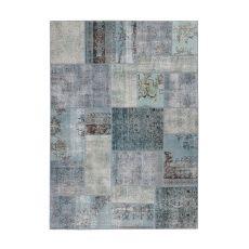 Antalya Blue - Moderno tapete de lana pura virgen