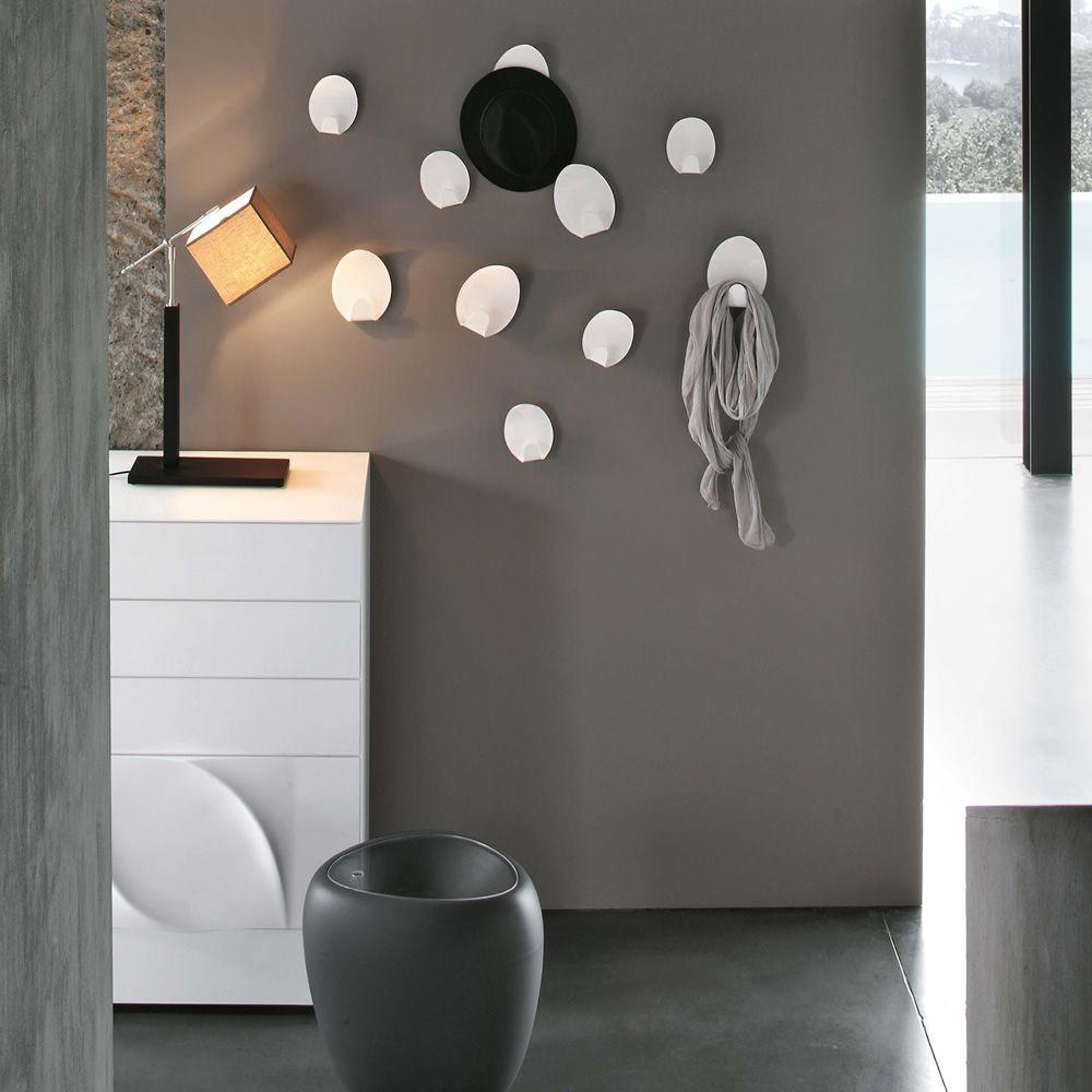 Ivy 7418 - Set von 2 Wandkleiderhaken Tonin Casa aus Metakrylat ...