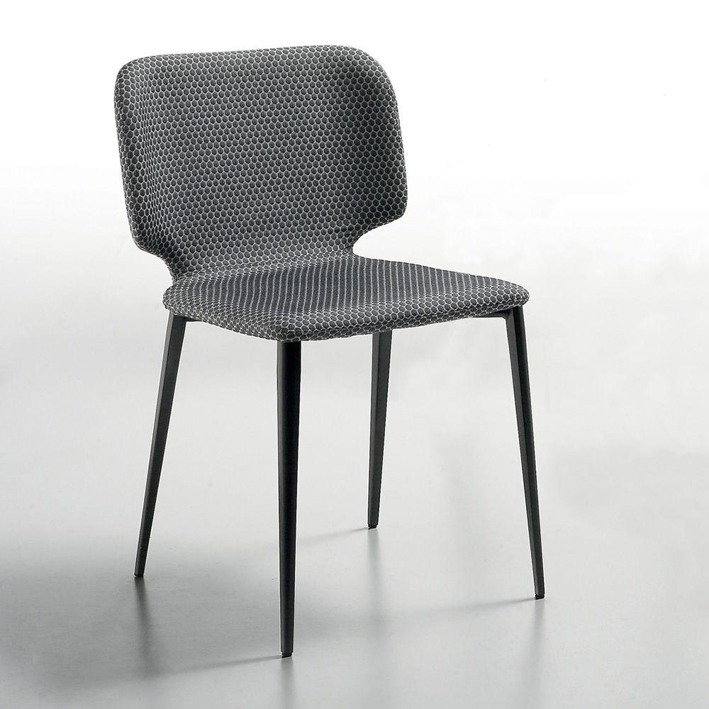 Wrap s sedia midj in metallo rivestimento in pelle for Sedie cucina metallo