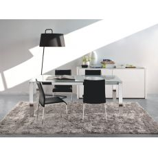 CB4010 110 Baron C - Connubia - Calligaris metal table, different tops available, 110 x 70 cm extendable