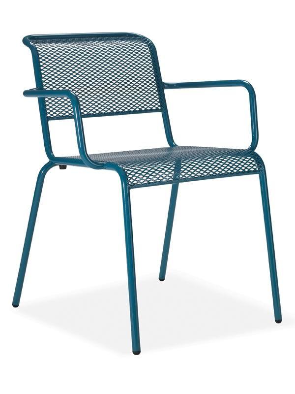 nassa p pour bars et restaurants chaise en m tal de diff rentes couleurs avec des accoudoirs. Black Bedroom Furniture Sets. Home Design Ideas