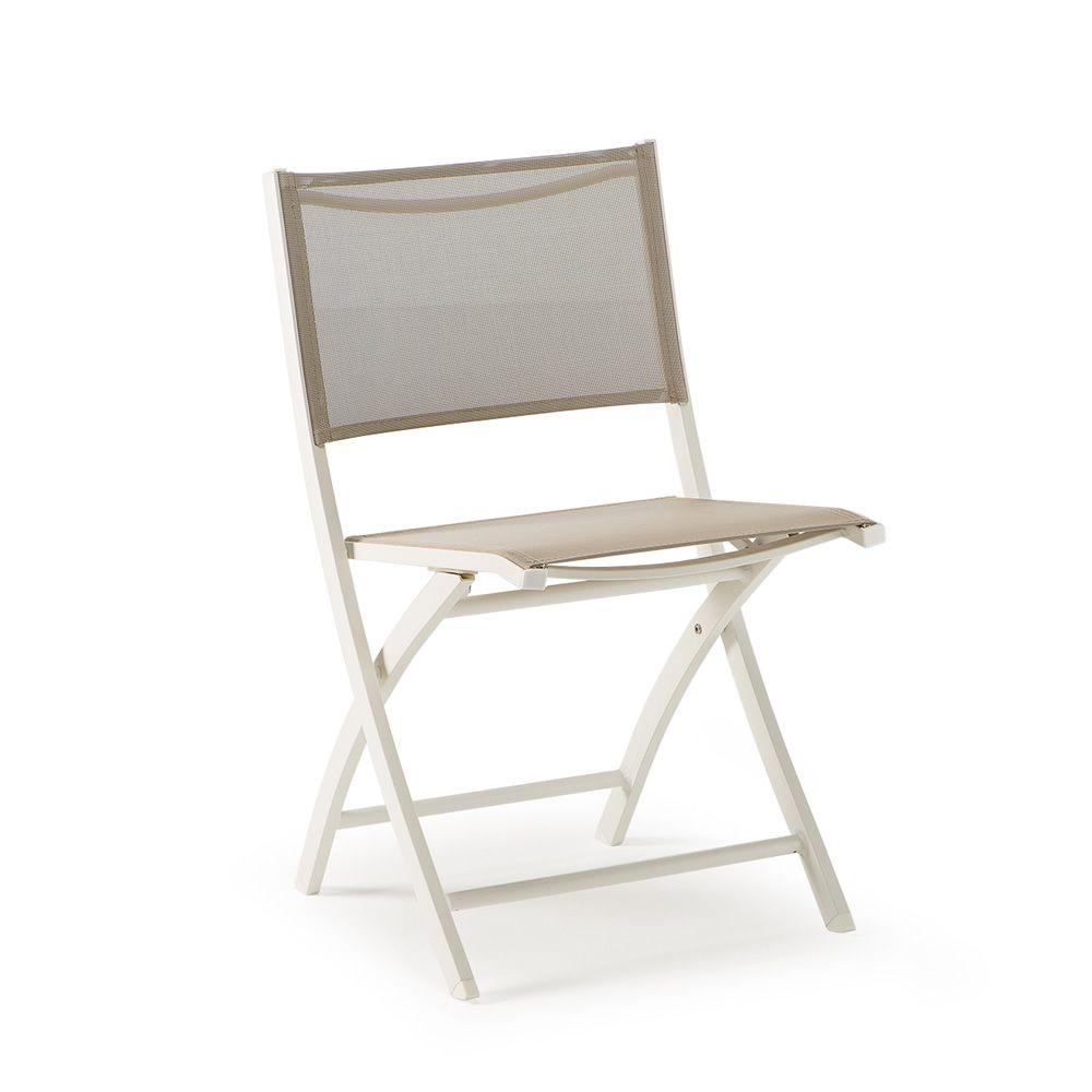 tt961 chaise pliante en aluminium et textil ne id ale l 39 utilisation l 39 ext rieur sediarreda. Black Bedroom Furniture Sets. Home Design Ideas