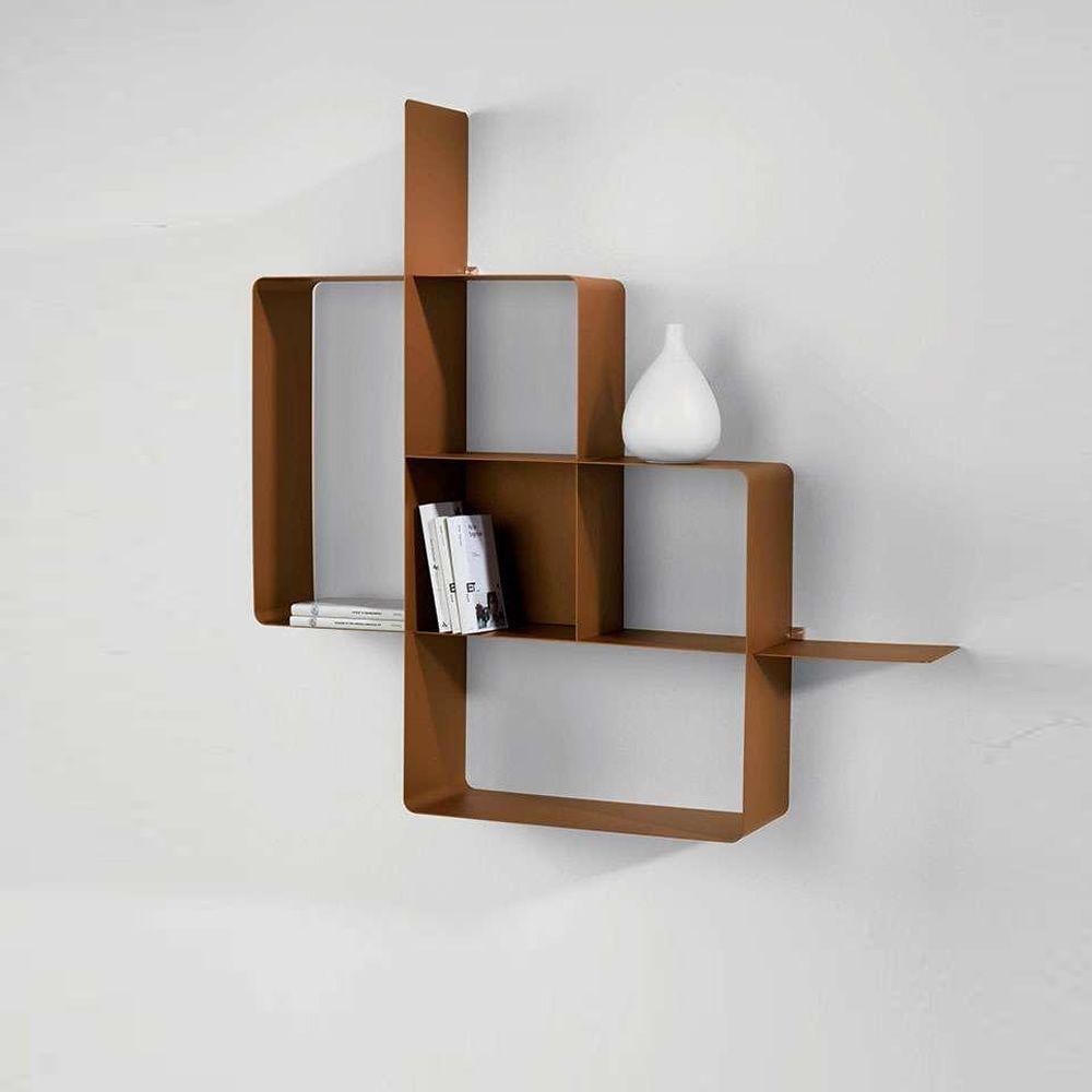 mondrian biblioth que modulaire en m tal peint sediarreda. Black Bedroom Furniture Sets. Home Design Ideas
