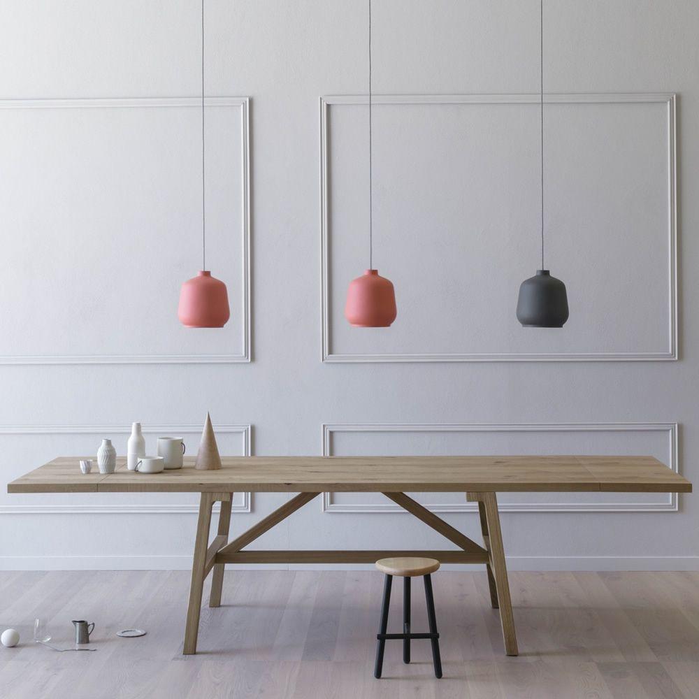 Frattino mesa rectangular miniforms de madera roble for Mesa rectangular extensible