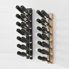 Zia Gaia P - Portabottiglie da terra fissata a parete, in legno massello, disponibile in diverse dimensioni e colori