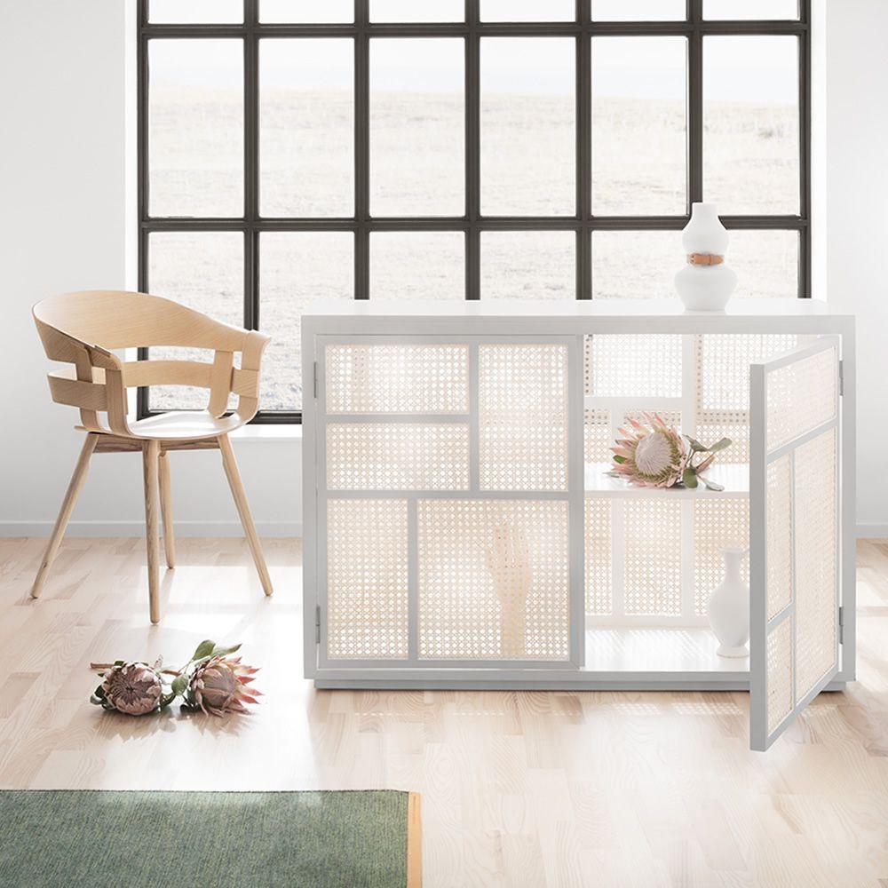 Air aparador en madera de abedul lacada color blanco y - Madera de abedul ...