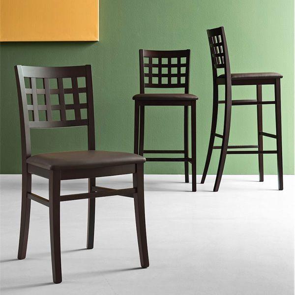 Cb1189 suite tabouret haut connubia calligaris en bois assise en similicuir hauteur assise - Suite cm ...