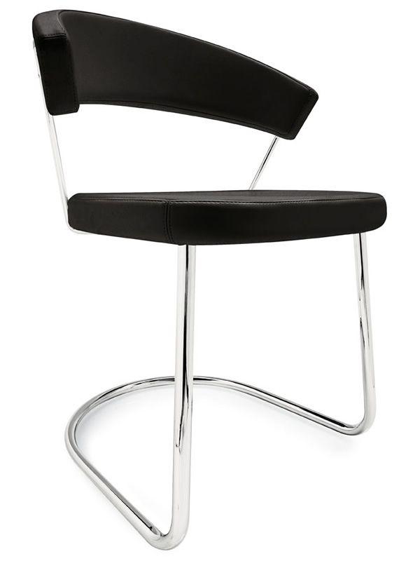 cb1111 new york stuhl connubia calligaris aus metall mit bezug aus leder oder kunstleder. Black Bedroom Furniture Sets. Home Design Ideas