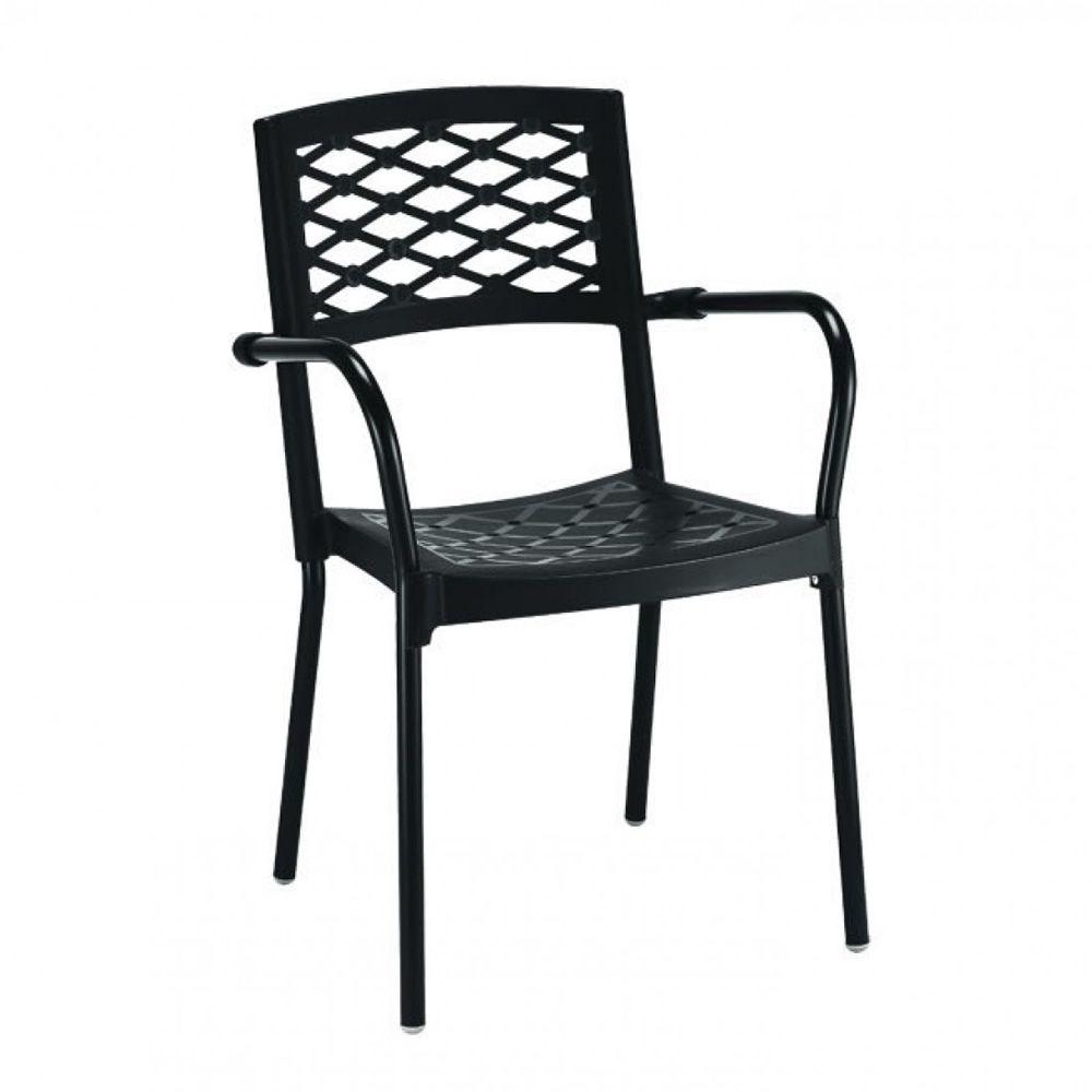 lula 2090 chaise quip e d 39 accoudoirs en aluminium et en technopolym re empilable id ale. Black Bedroom Furniture Sets. Home Design Ideas