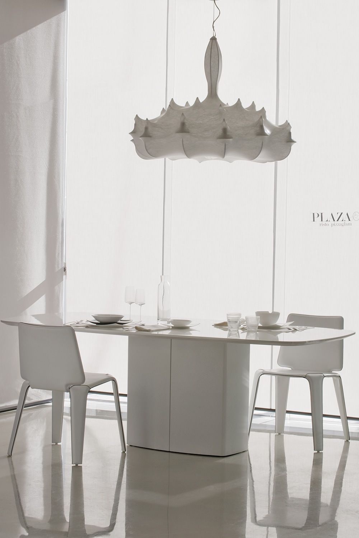 Aeror tavolo fisso pedrali in metallo piano in laminato o vetro 220 x 106 cm sediarreda - Tavoli pranzo design outlet ...